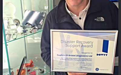 FOWLERS RECEIVE DISASTER RECOVERY SUPPORT AWARD